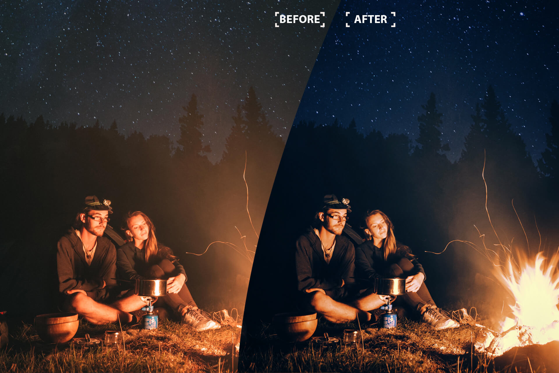 Cinematic Color Grading 01 Premium photoshop action example image 7
