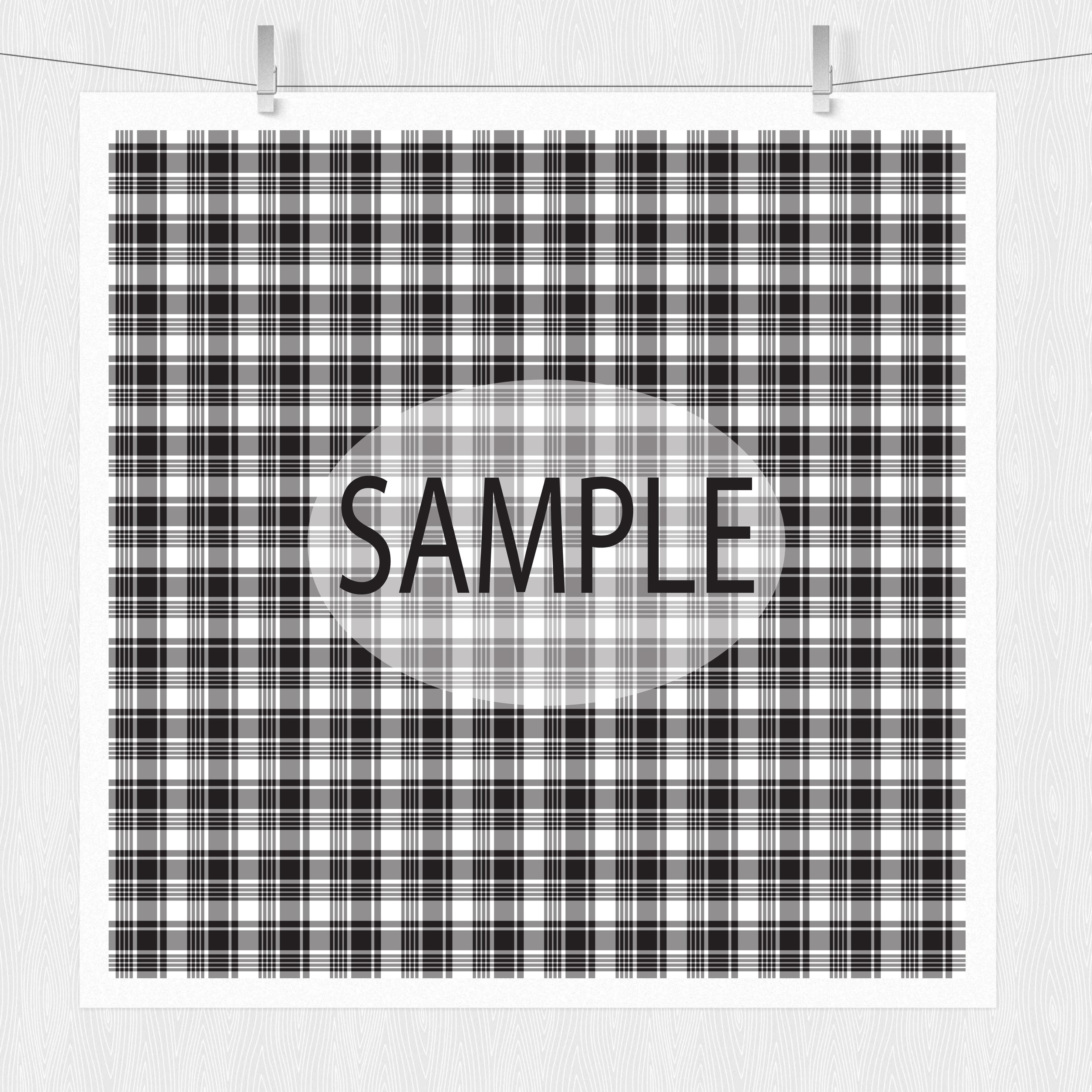 Black Plaid Digital Papers example image 5