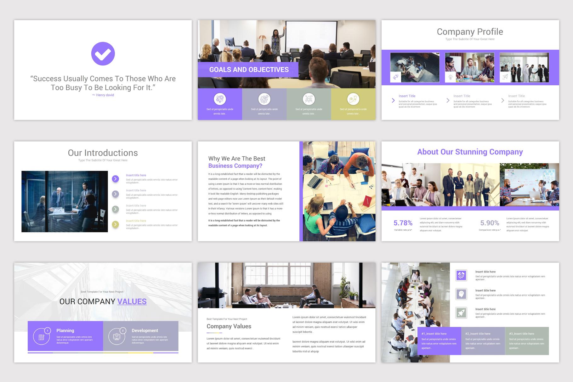 Company Profile Keynote Template example image 5