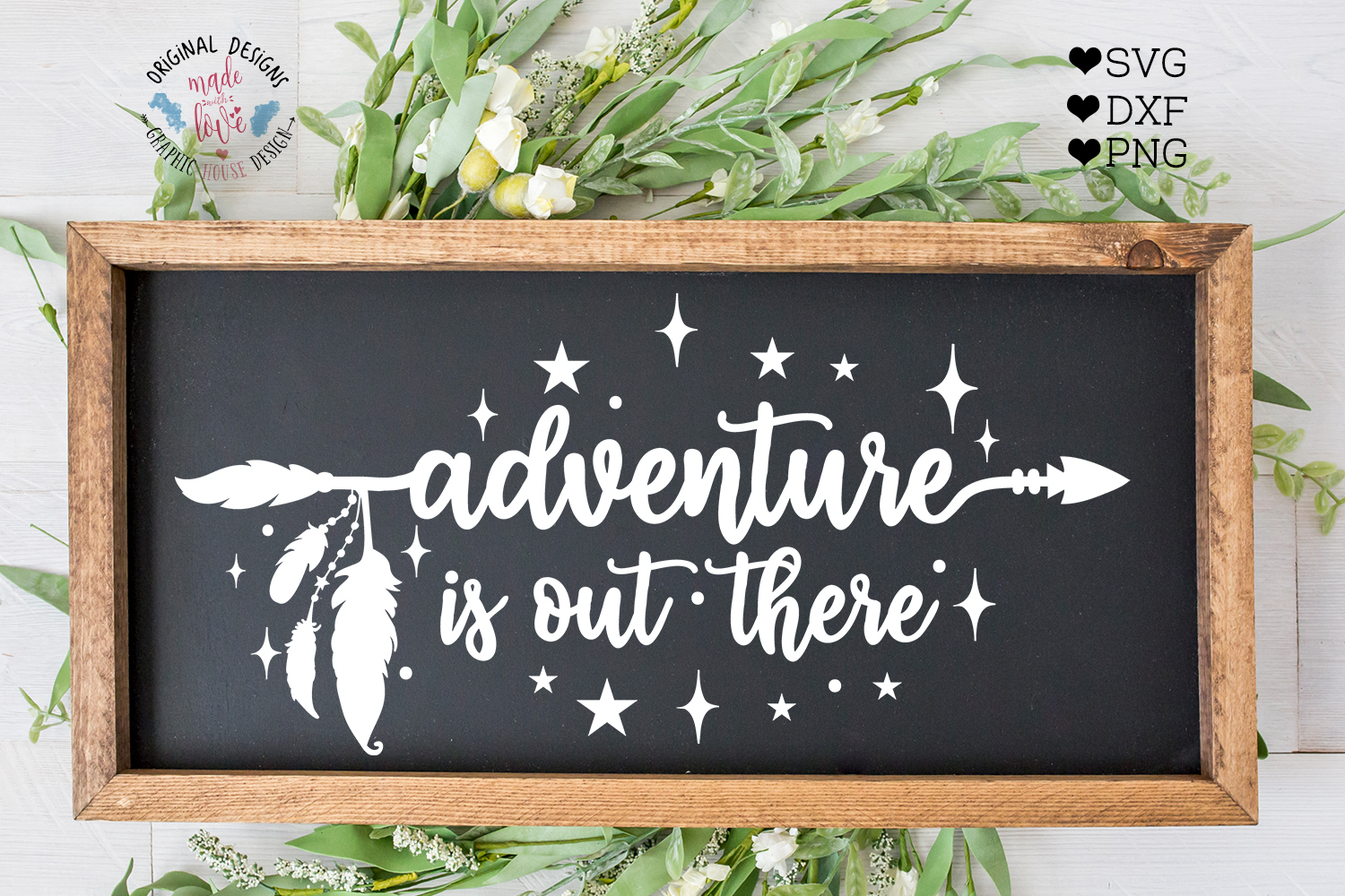 Adventure is Out There - Boho Arrow Cut File example image 1