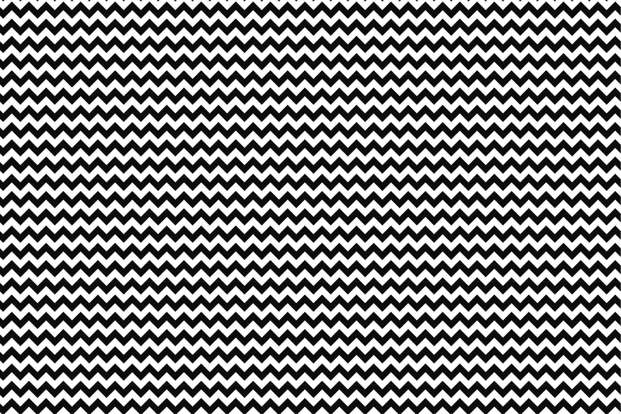 Wave&Zigzag seamless patterns. B&W. example image 12