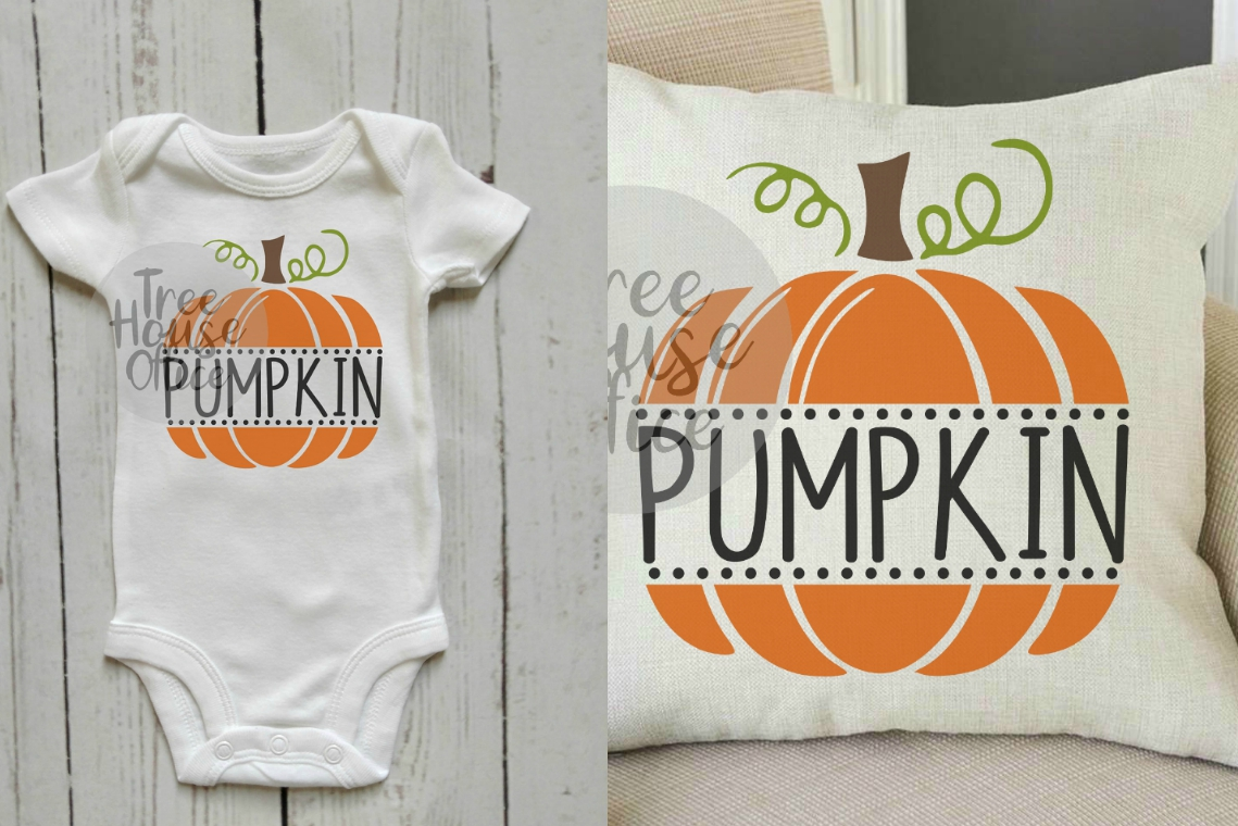 Pumpkin Cute Fall Baby's First 1st Halloween SVG PNG JPG DXF example image 2