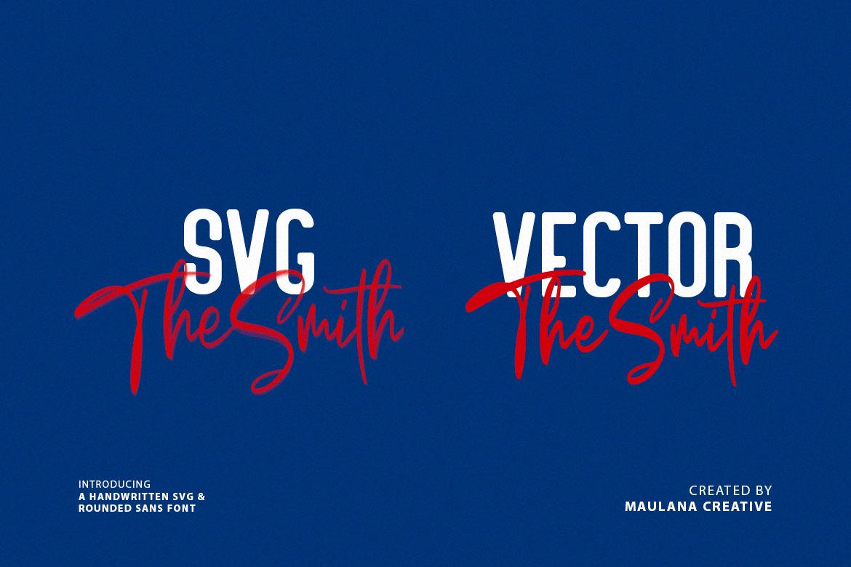 Bellarush SVG Brush Font Free Sans example image 3