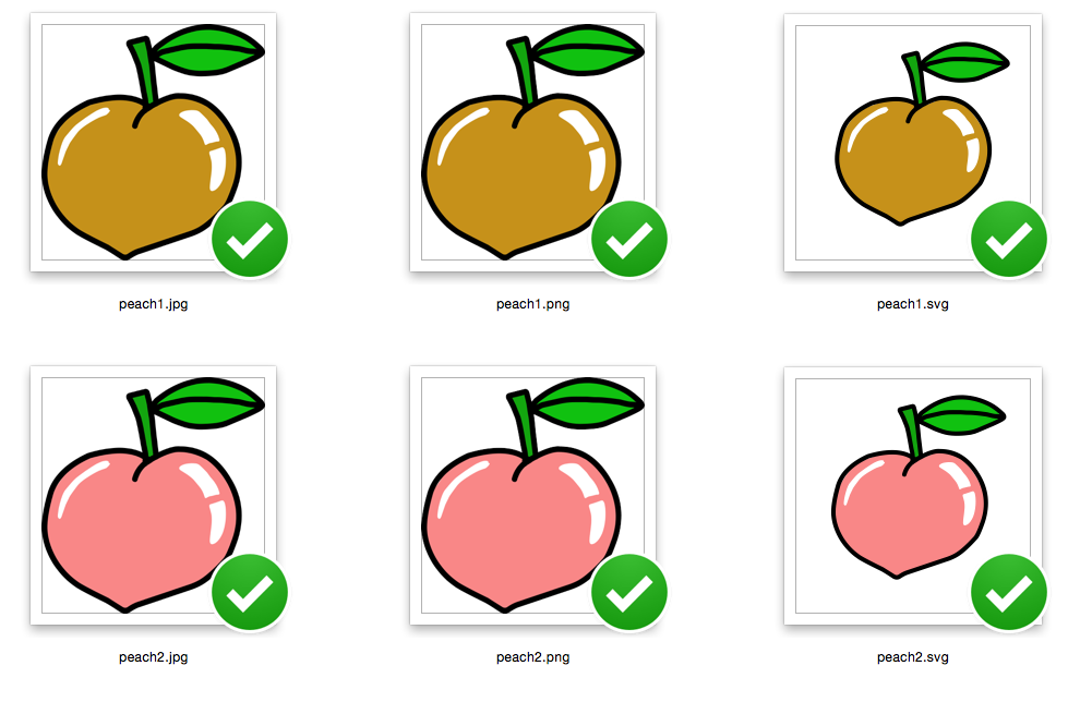 Peach Fruit for Peace - SVG/JPG/PNG Hand Drawing example image 2