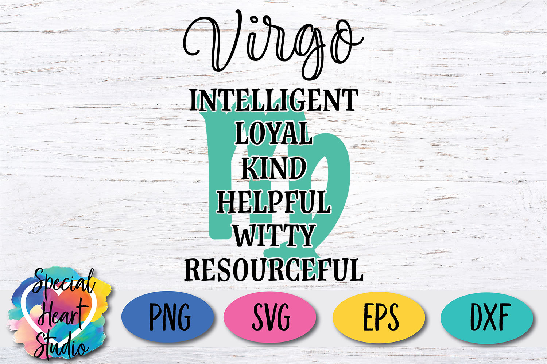 Virgo Zodiac SVG example image 2