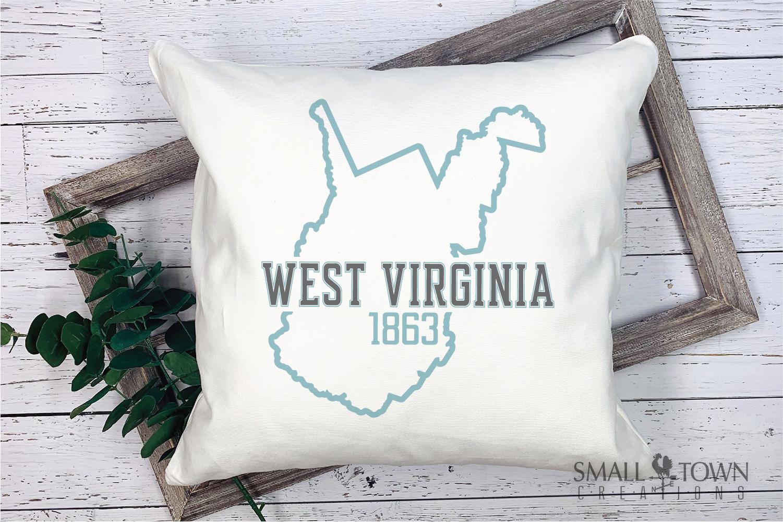 West Virginia, Wild Wonderful - slogan, Logo, PRINT, CUT & D example image 7