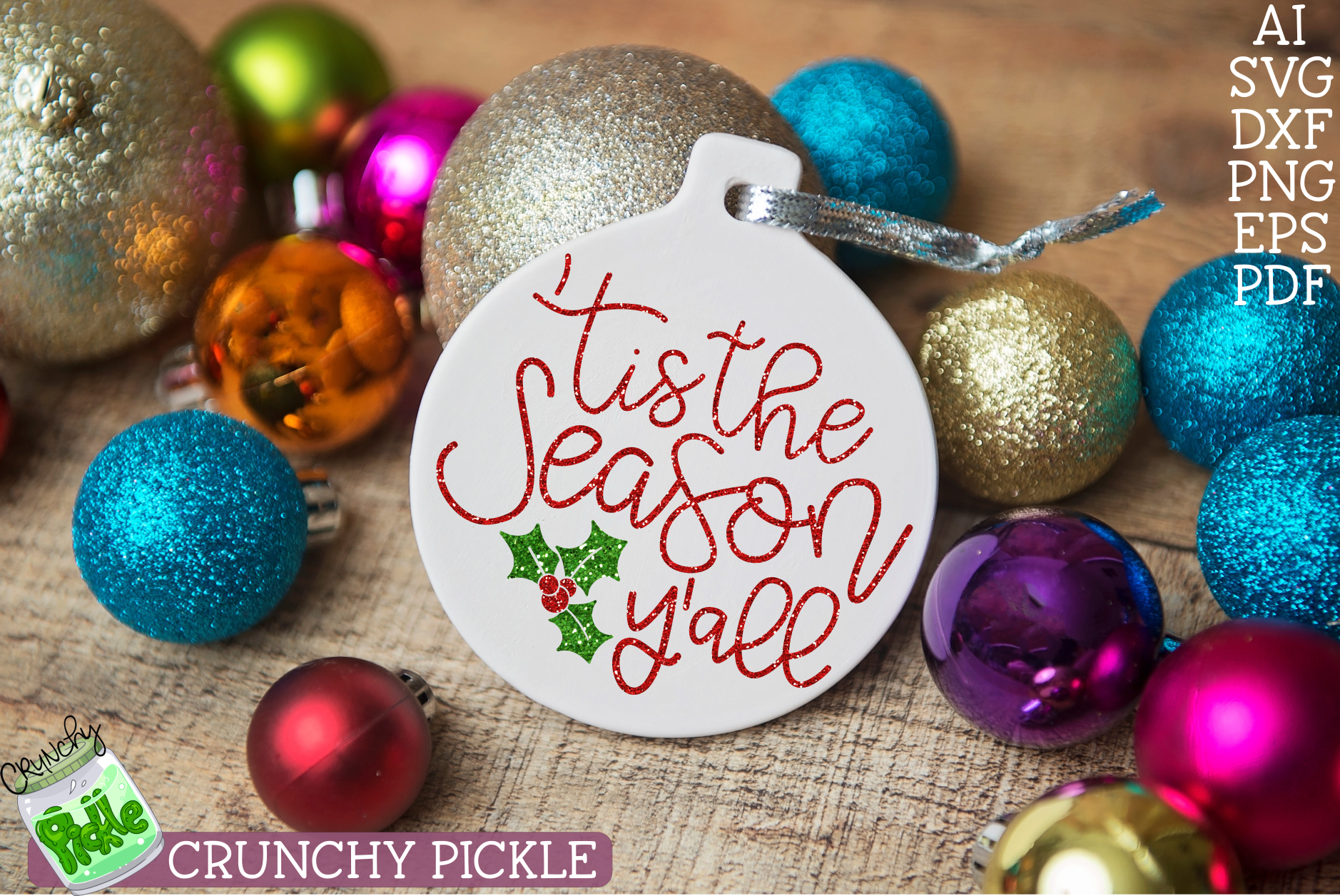 Tis the Season Y'all Christmas SVG example image 1