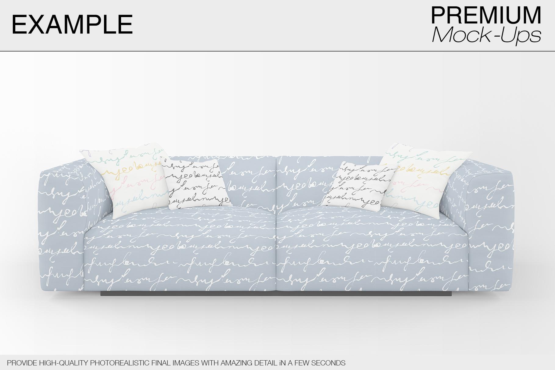 Sofa & Pillows Mockup Pack example image 7