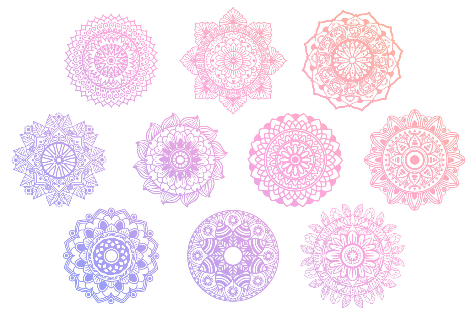 Mandala Bundle II - 25 SVG cut files example image 3
