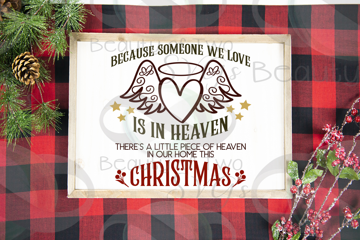 Christmas Angel Memoriam svg, Heaven in our home svg, angel example image 3