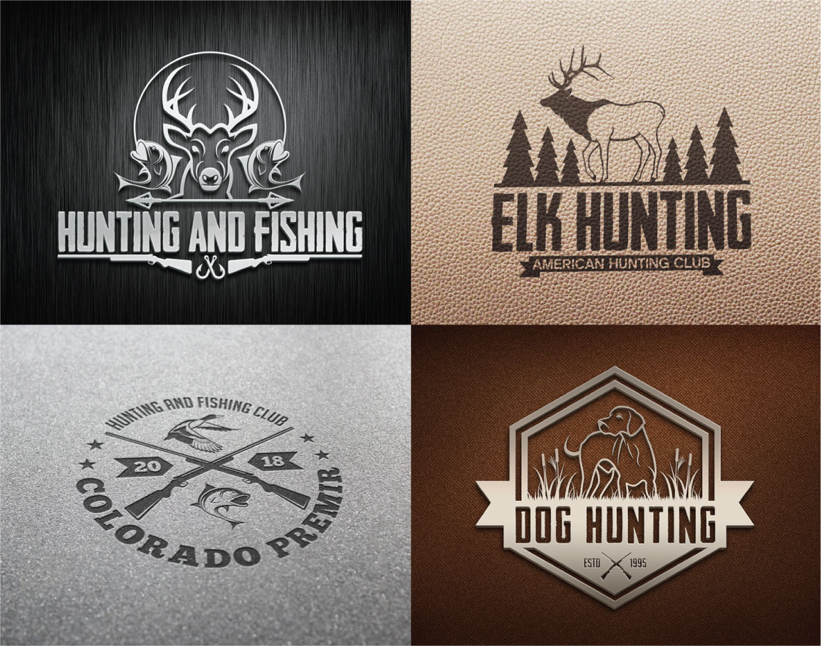 Hunting Vintage Badges and Logos example image 4