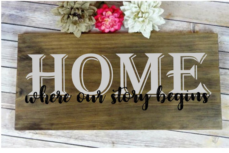 HOME where our story begins SVG example image 2