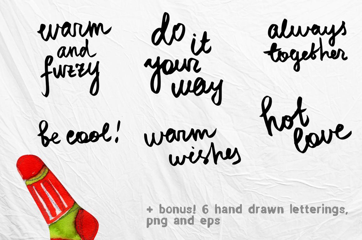 Watercolor socks set example image 5