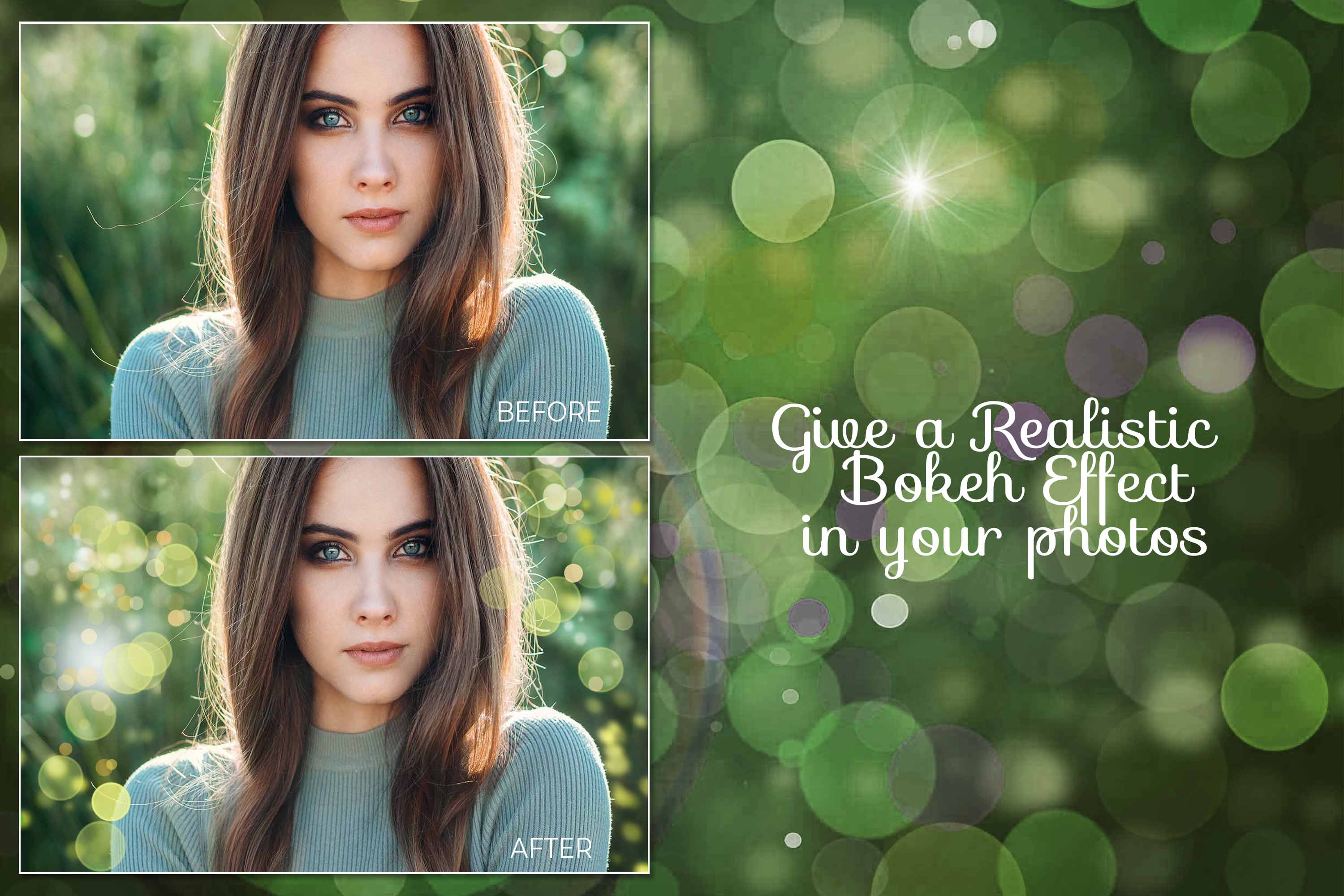 15 Bokeh Photoshop Brushes abr. - Scatter & Dynamics example image 9