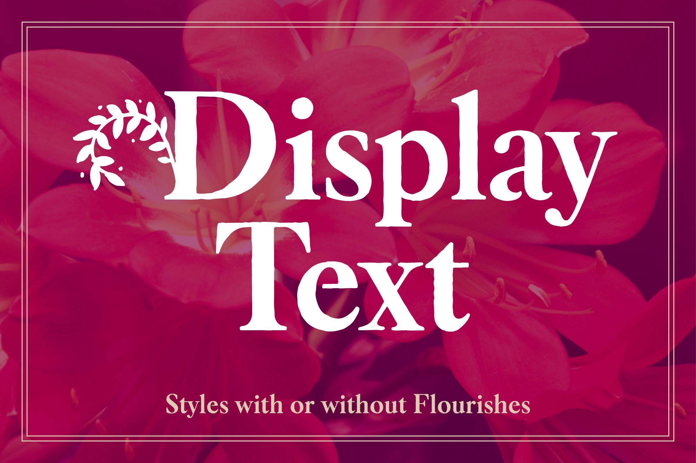 Botany Font Family example image 3