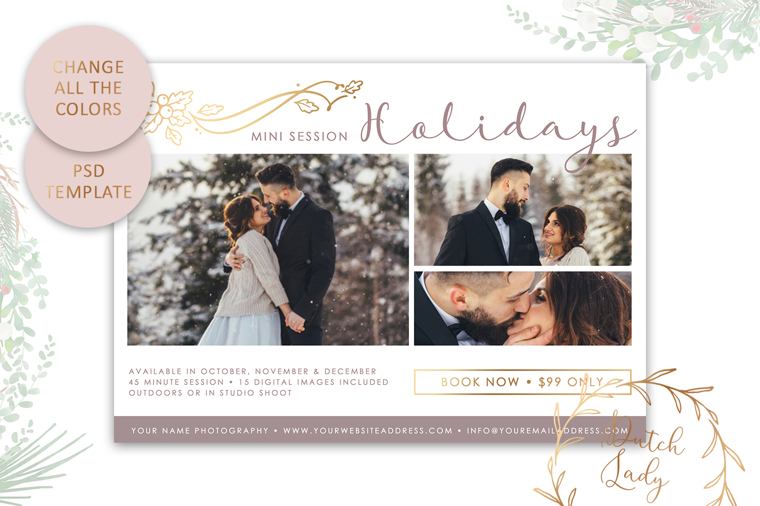 PSD Photo Mini Session Card Template - Design #21 example image 4