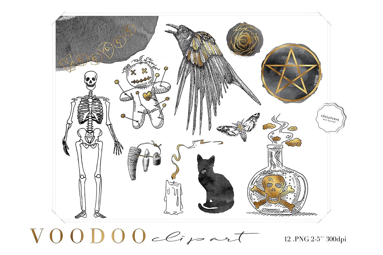 Witchcraft Voodoo Clipart example image 1