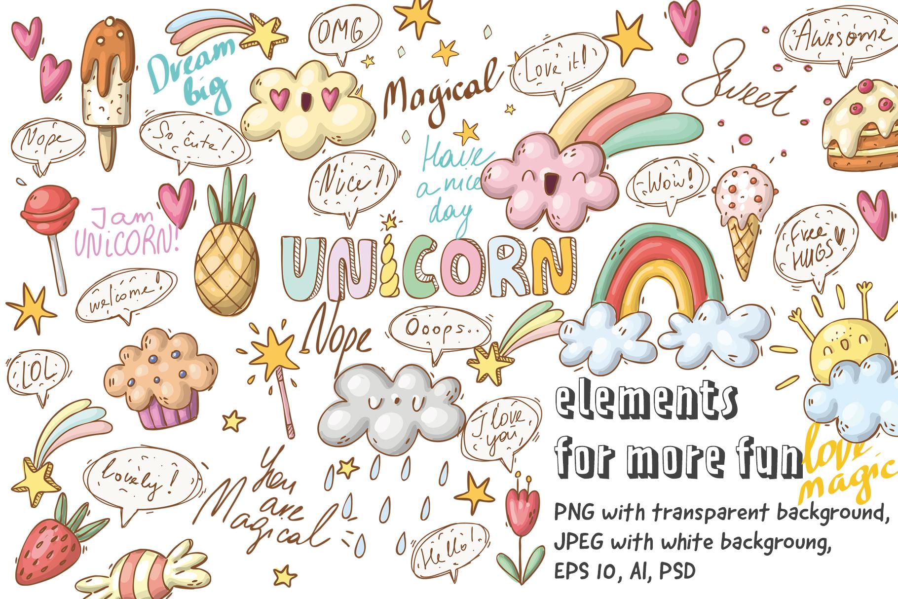 Magical unicorns set example image 5