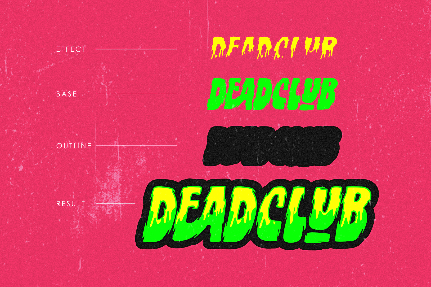 Deadclub Family Font | Bonus Monster Pack Ai and Png example image 3