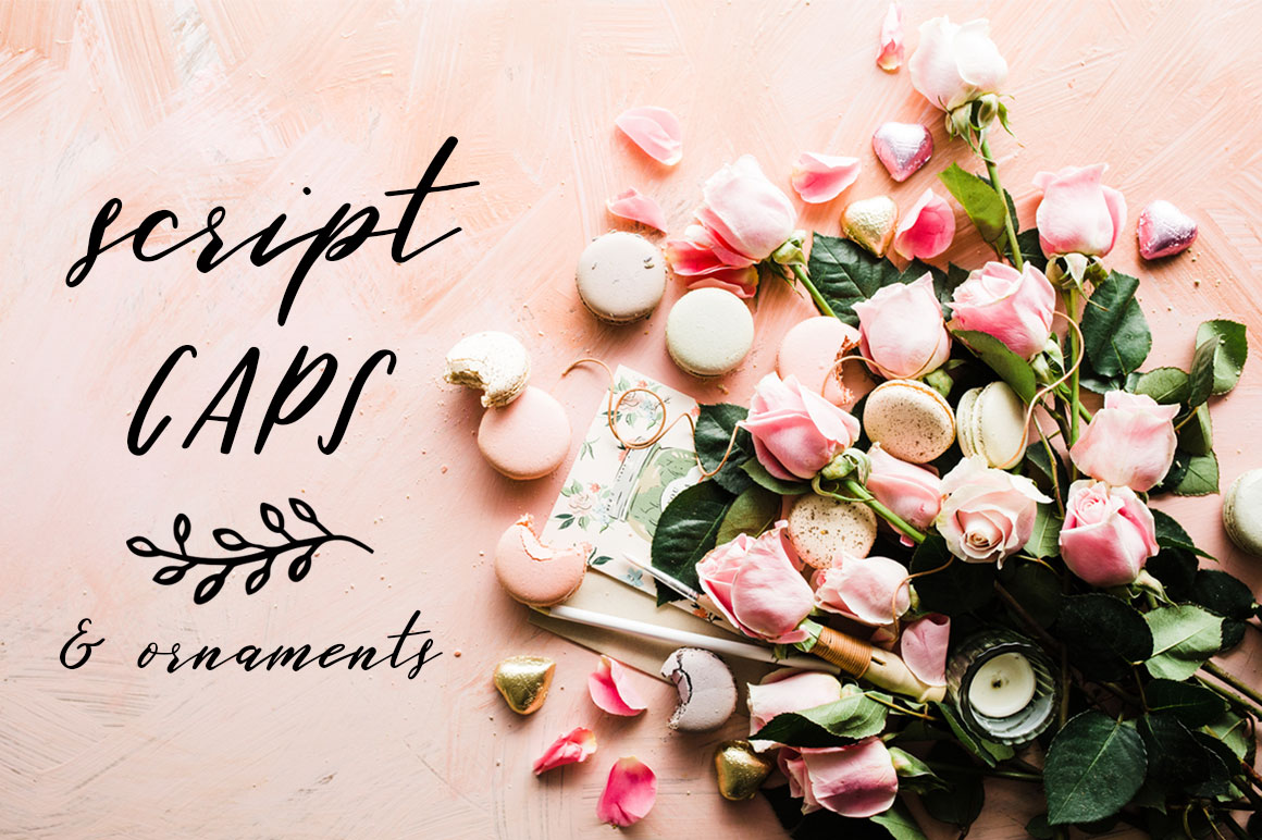 Sweet Little Things TRIO font - Script, Caps & Ornaments example image 9