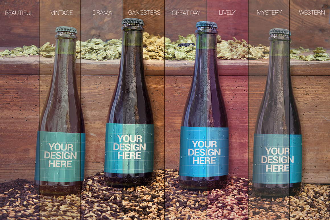 4 Bottles in 1 Mockup 2 30 OFF example image 7