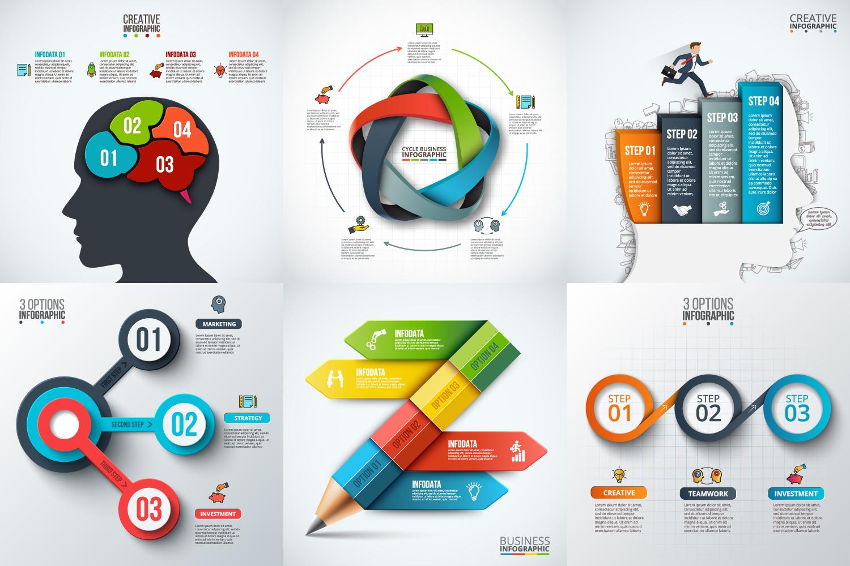 Infographic elements bundle v.02 example image 5