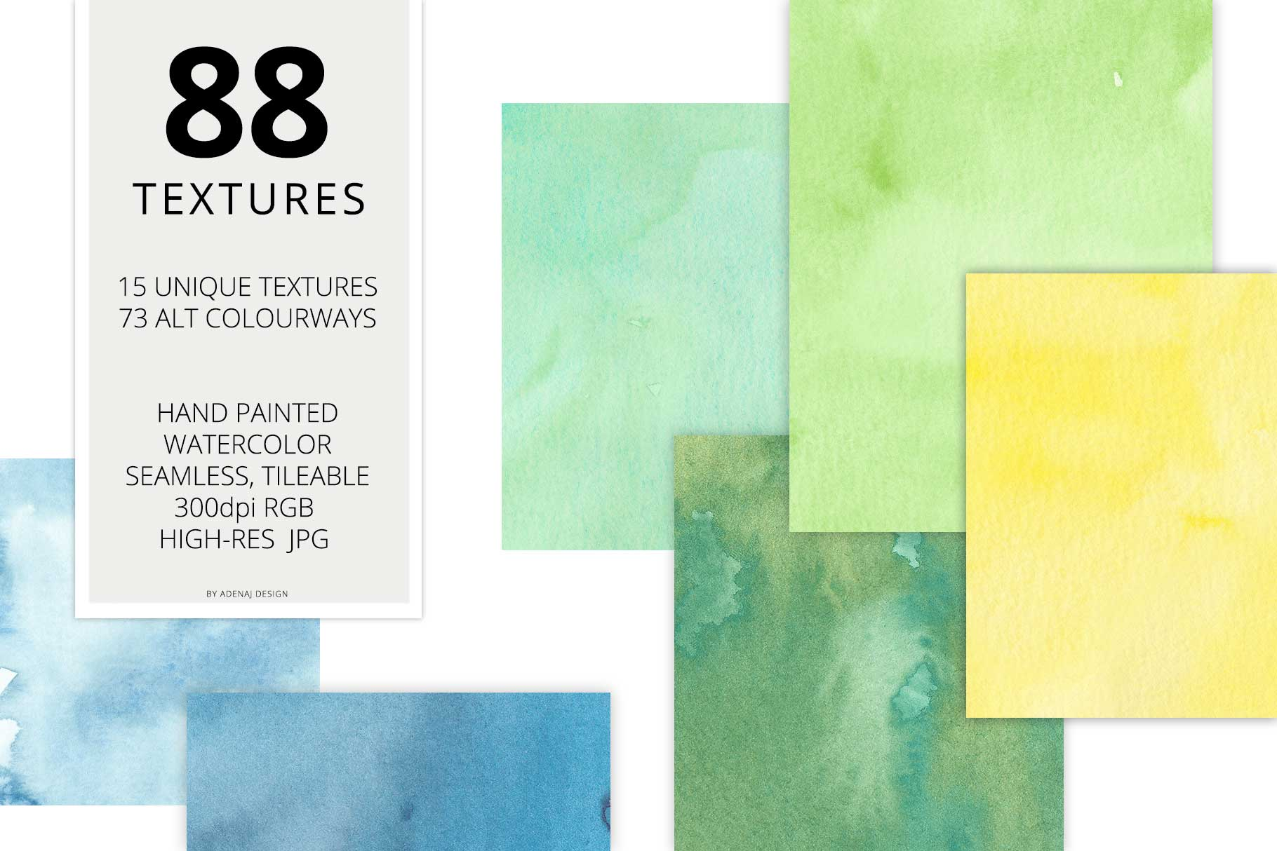 88 Hi-Res Seamless Watercolor Textures example image 2