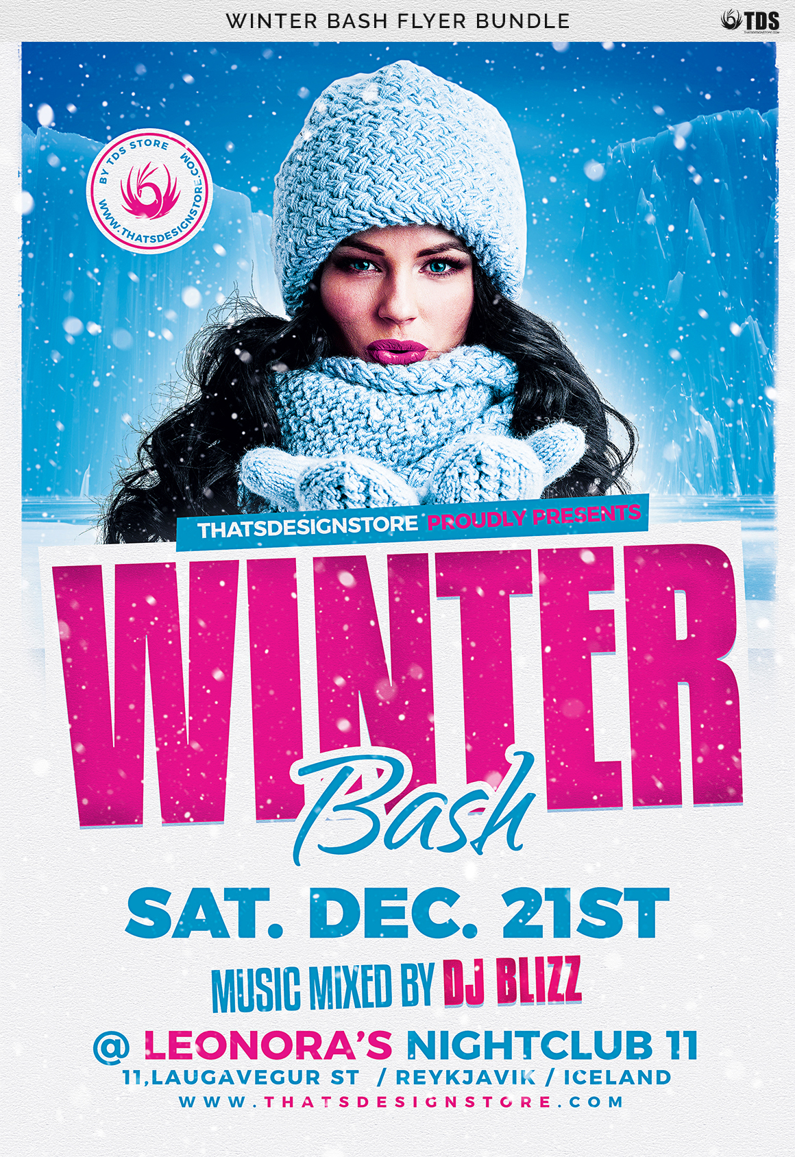 Winter Bash Flyer Bundle example image 12