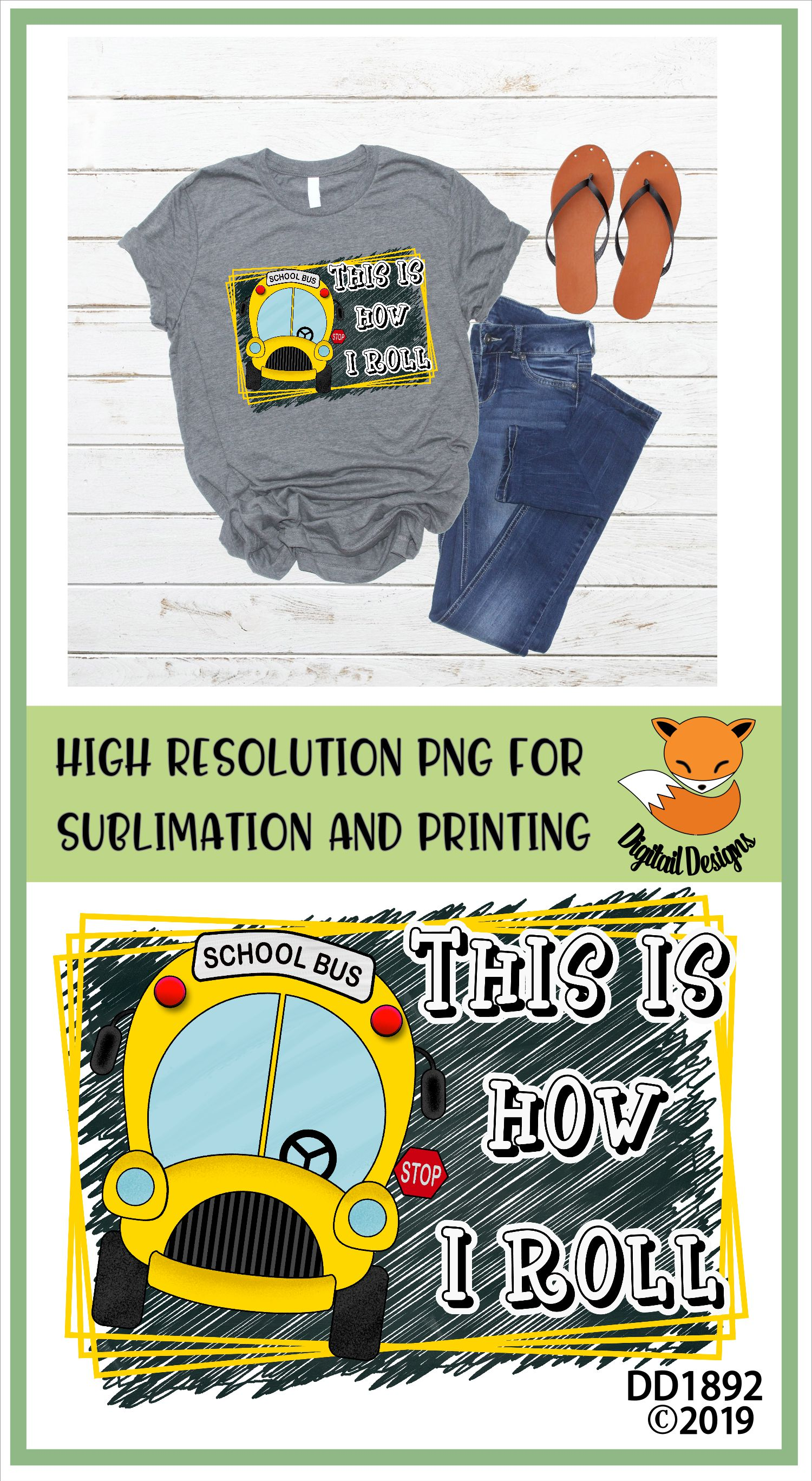 School Bus Driver PNG for Sublimation example image 2