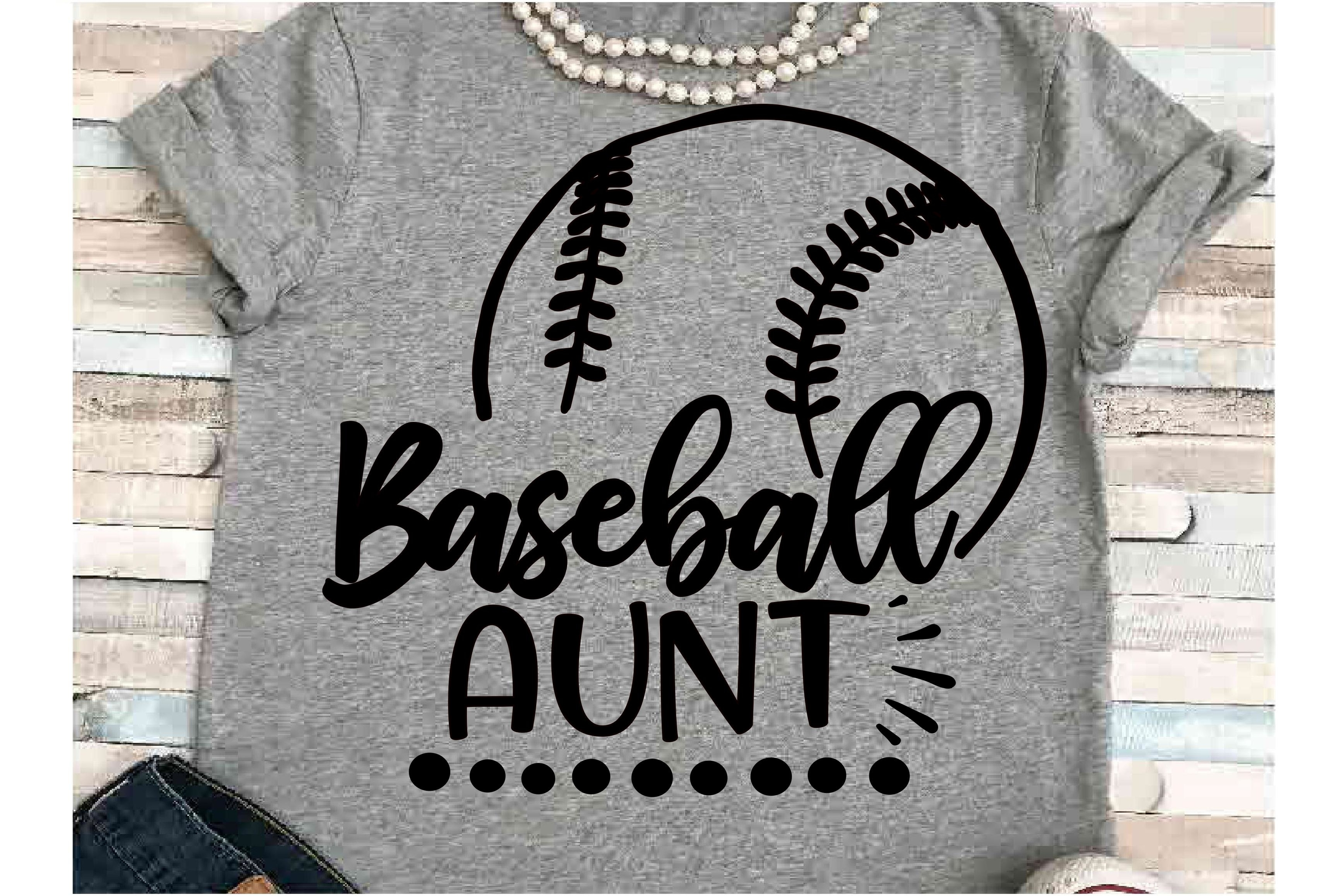 Baseball SVG DXF JPEG Silhouette Cameo Cricut aunt svg example image 1