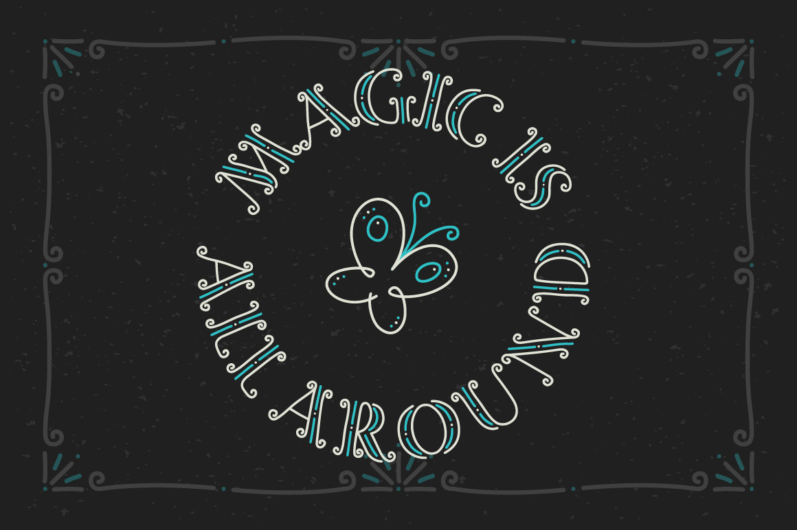 Magic Curls font example image 2