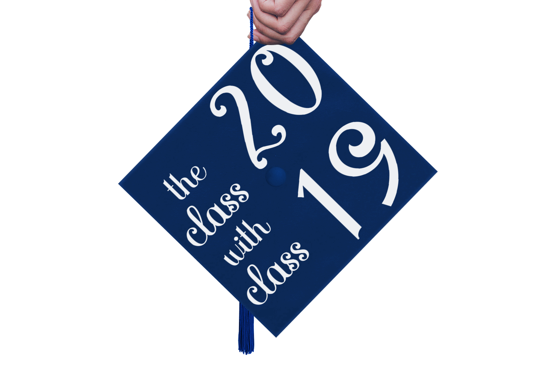 The Class with Class 2019 Grad Cap Design - A Graduation Hat example image 3