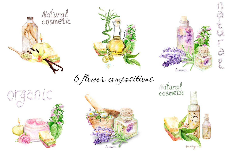 Watercolor set Natural cosmetics example image 3