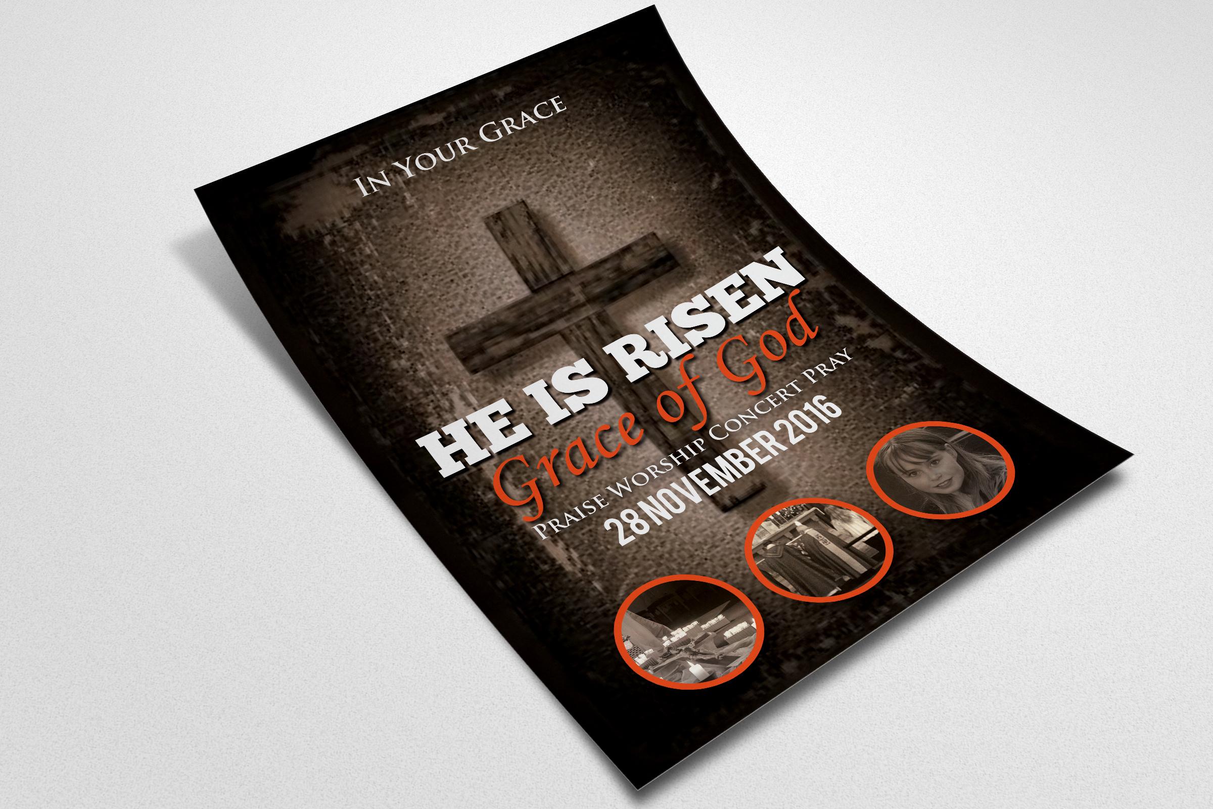 Pastors Appreciation Church Flyer Template example image 2