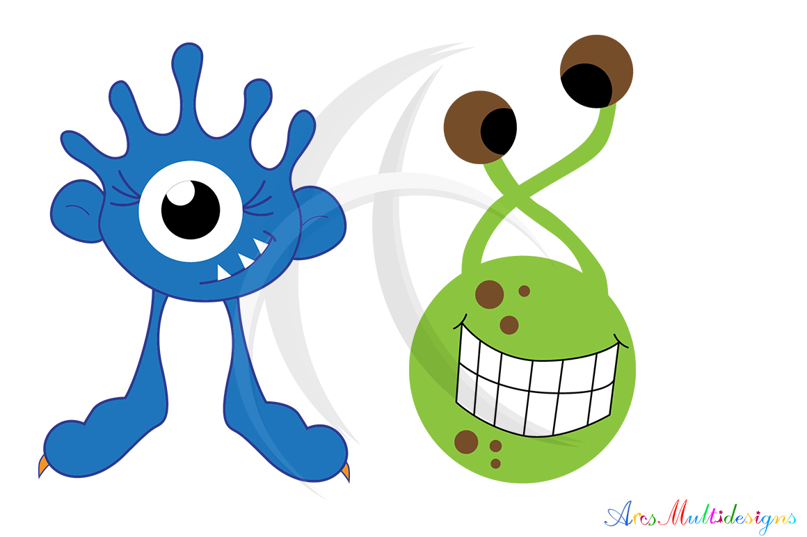 Monster characters svg / cute monster SVG / monster svg vector/ hand drawn monster SVG / Eps / Png / monster clip art / monster silhouette example image 3