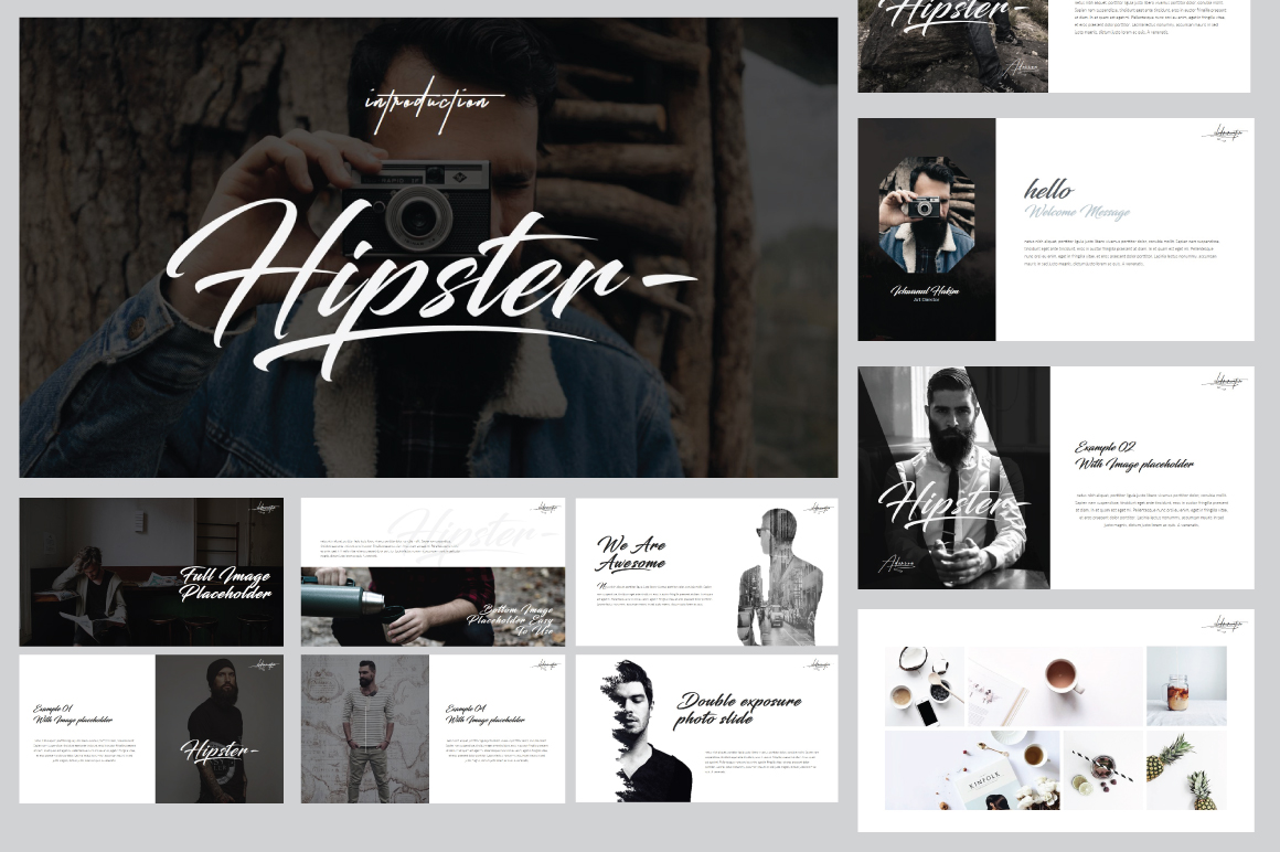 Hipster v.2 Powerpoint Template example image 2