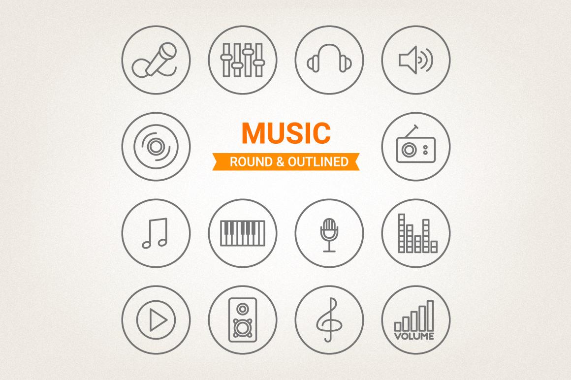 Circle Music Icons example image 1