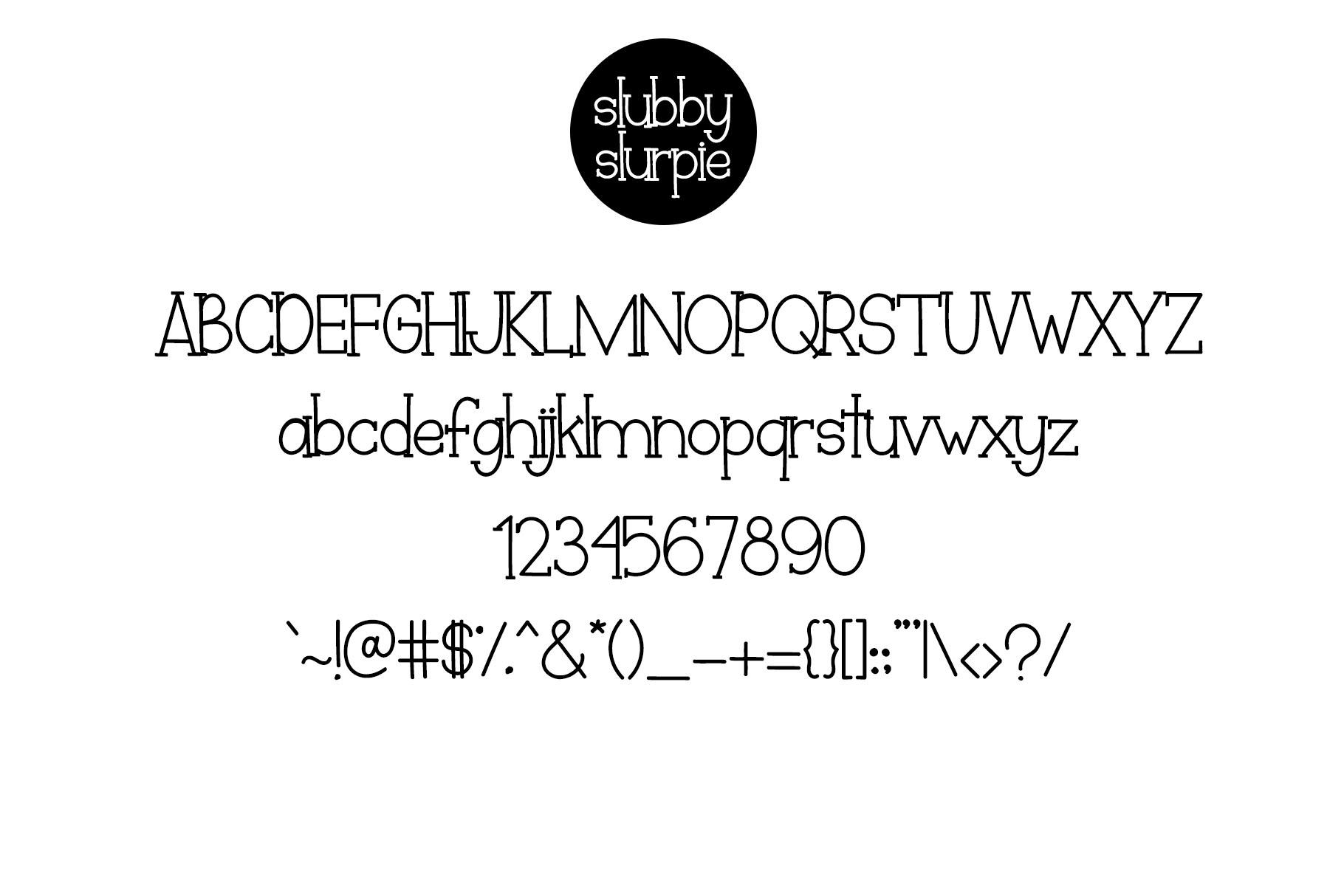 Slubby Slurpie - Stylish Slab Font example image 6