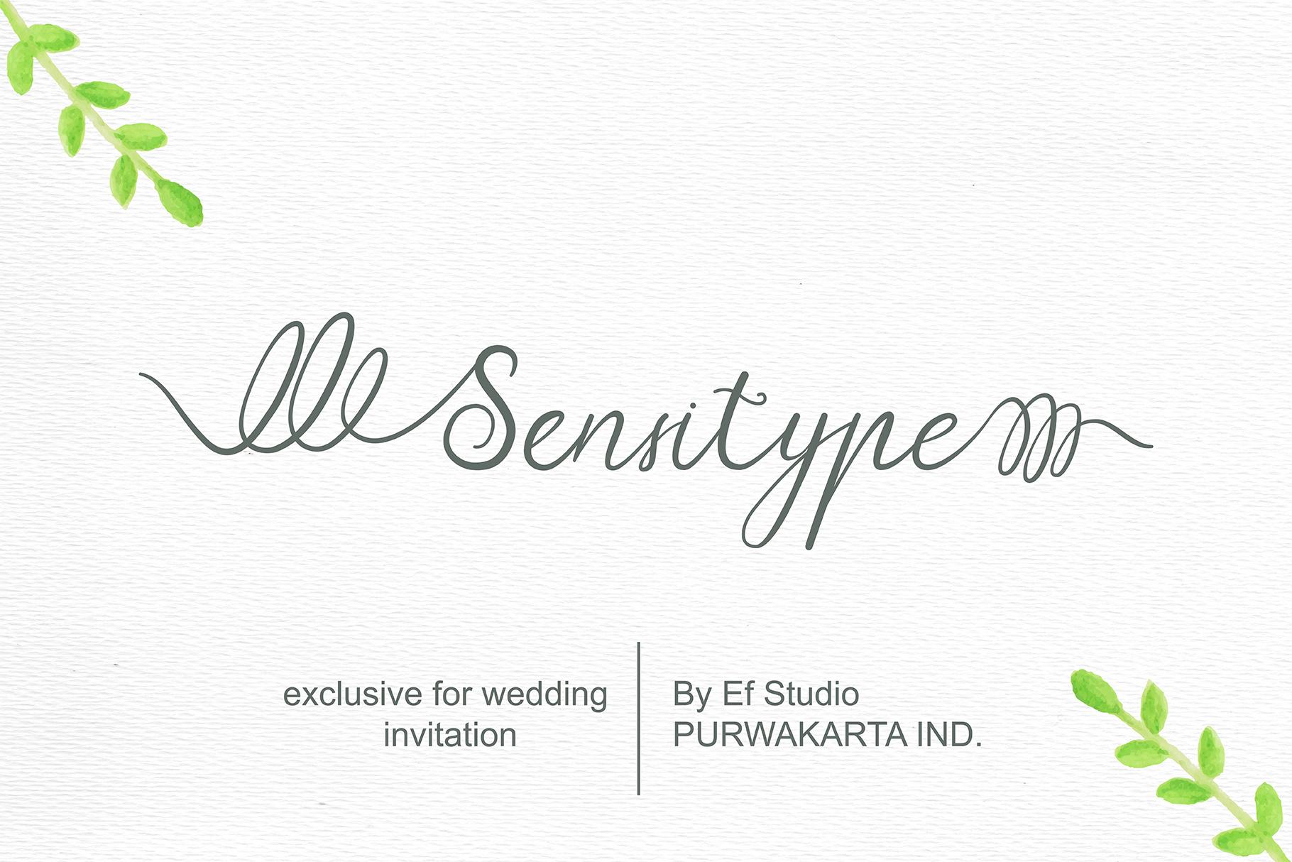 Sensitype - Wedding Font example image 1