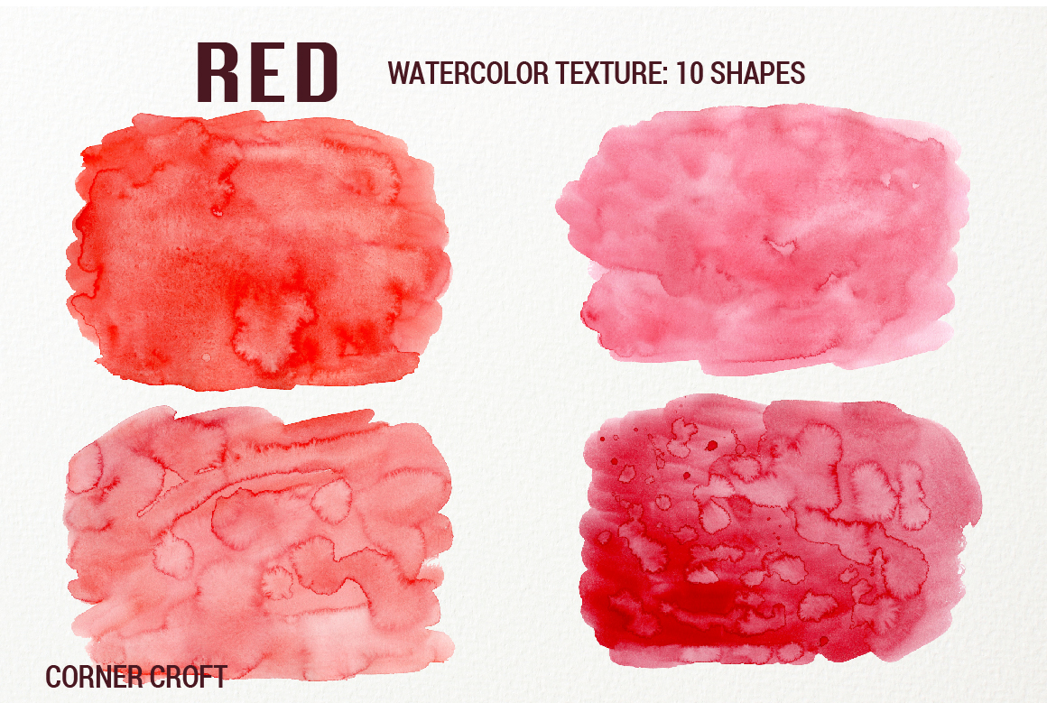 Watercolor Texture Red example image 4