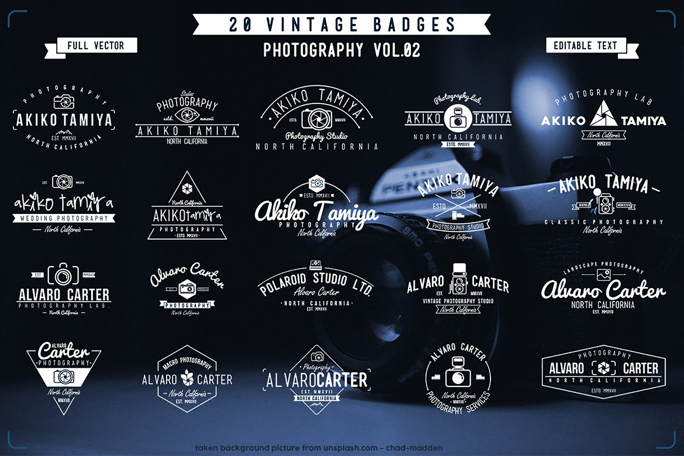 BIG BUNDLE Vintage Badges example image 4