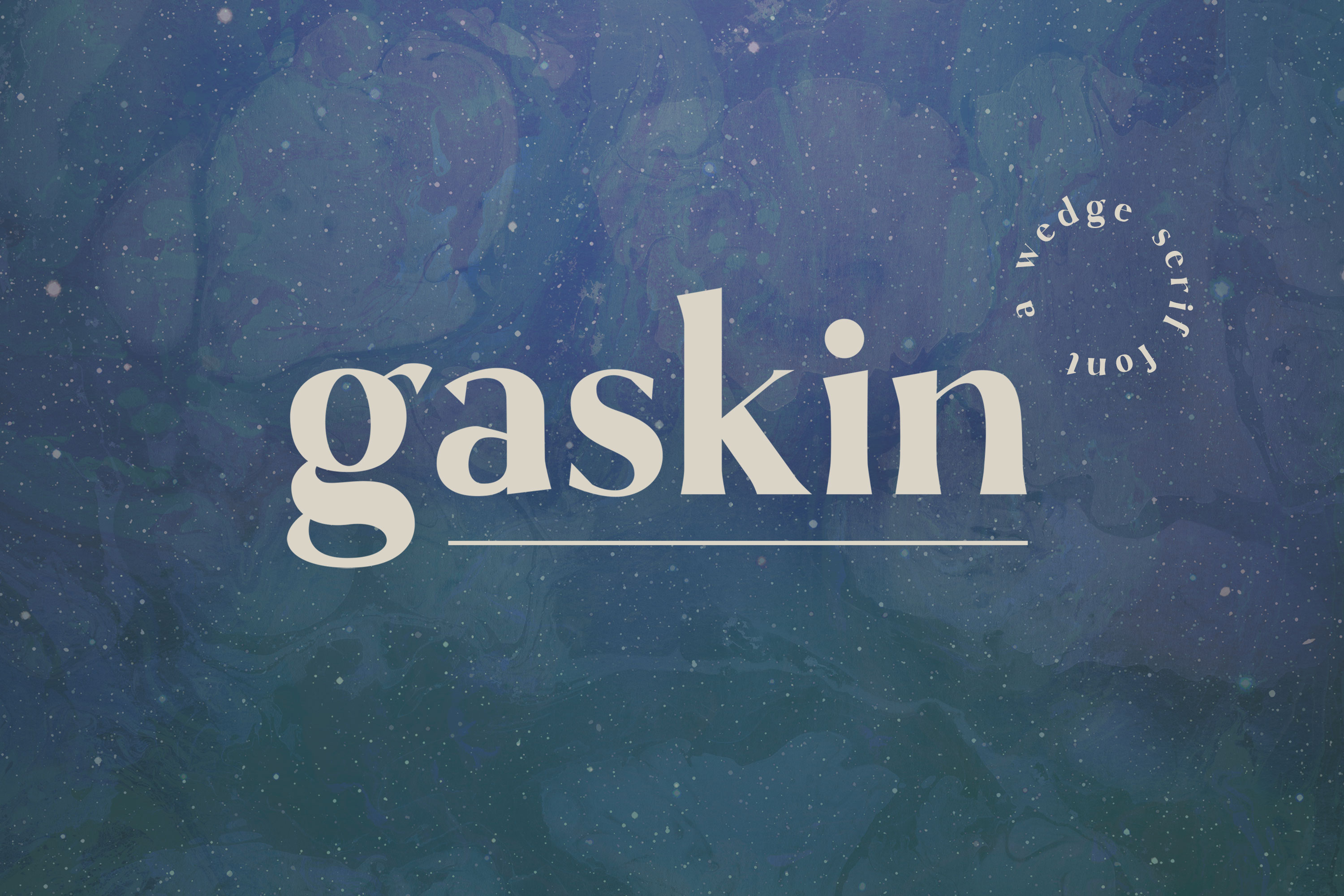 Gaskin - A Wedge Serif Font example image 1