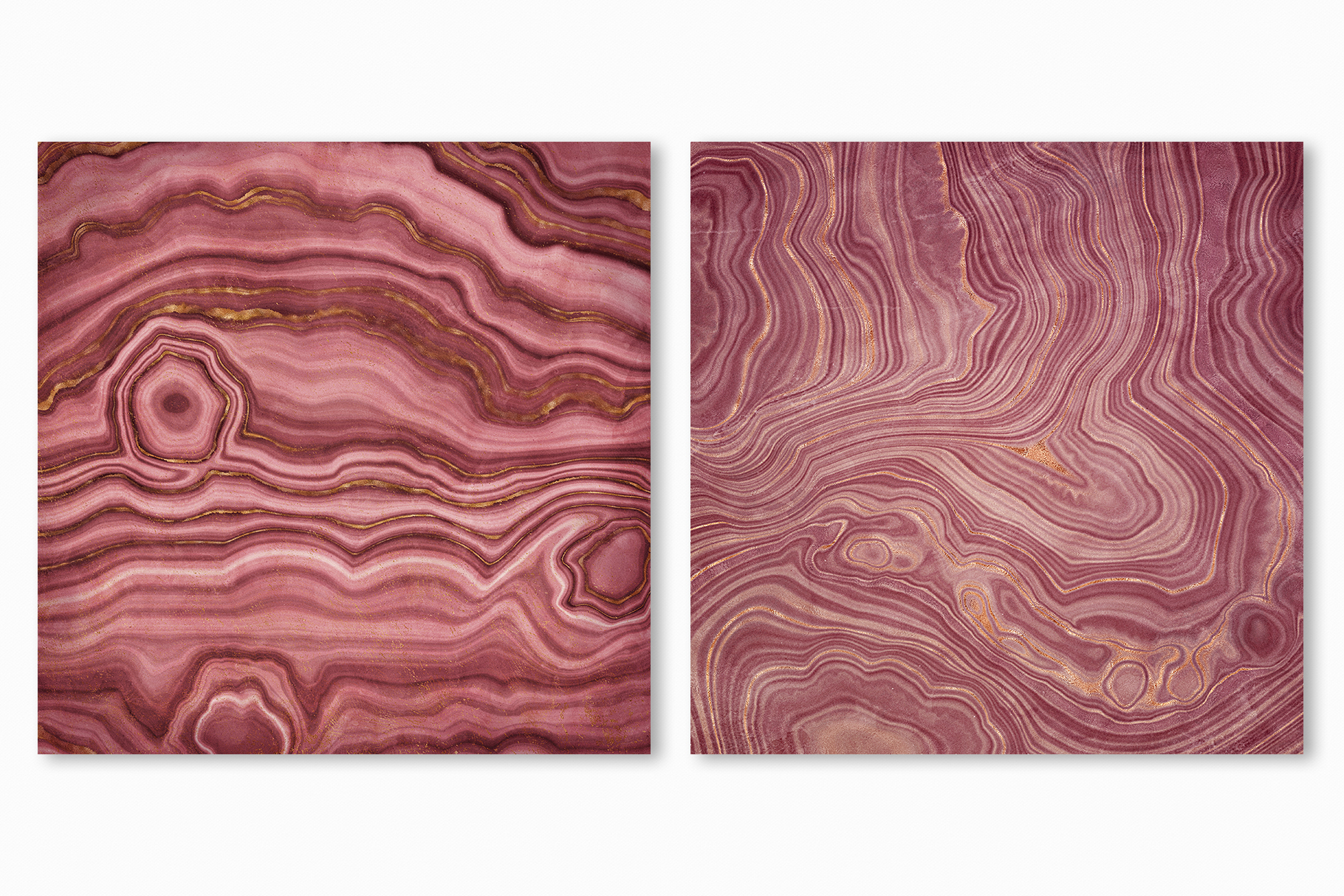 Pink Agate Illustrations, Textures & Patterns example image 9