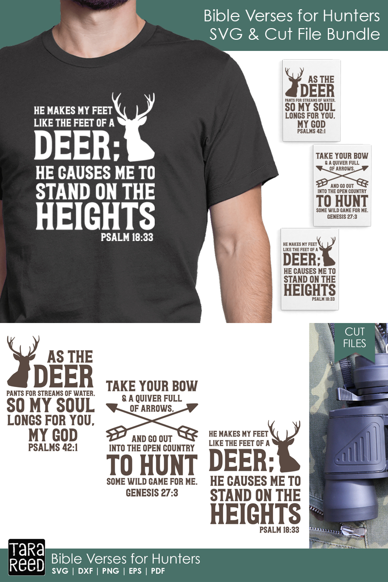 Bible Verses for Hunters - Hunting SVG and Cut Files example image 3