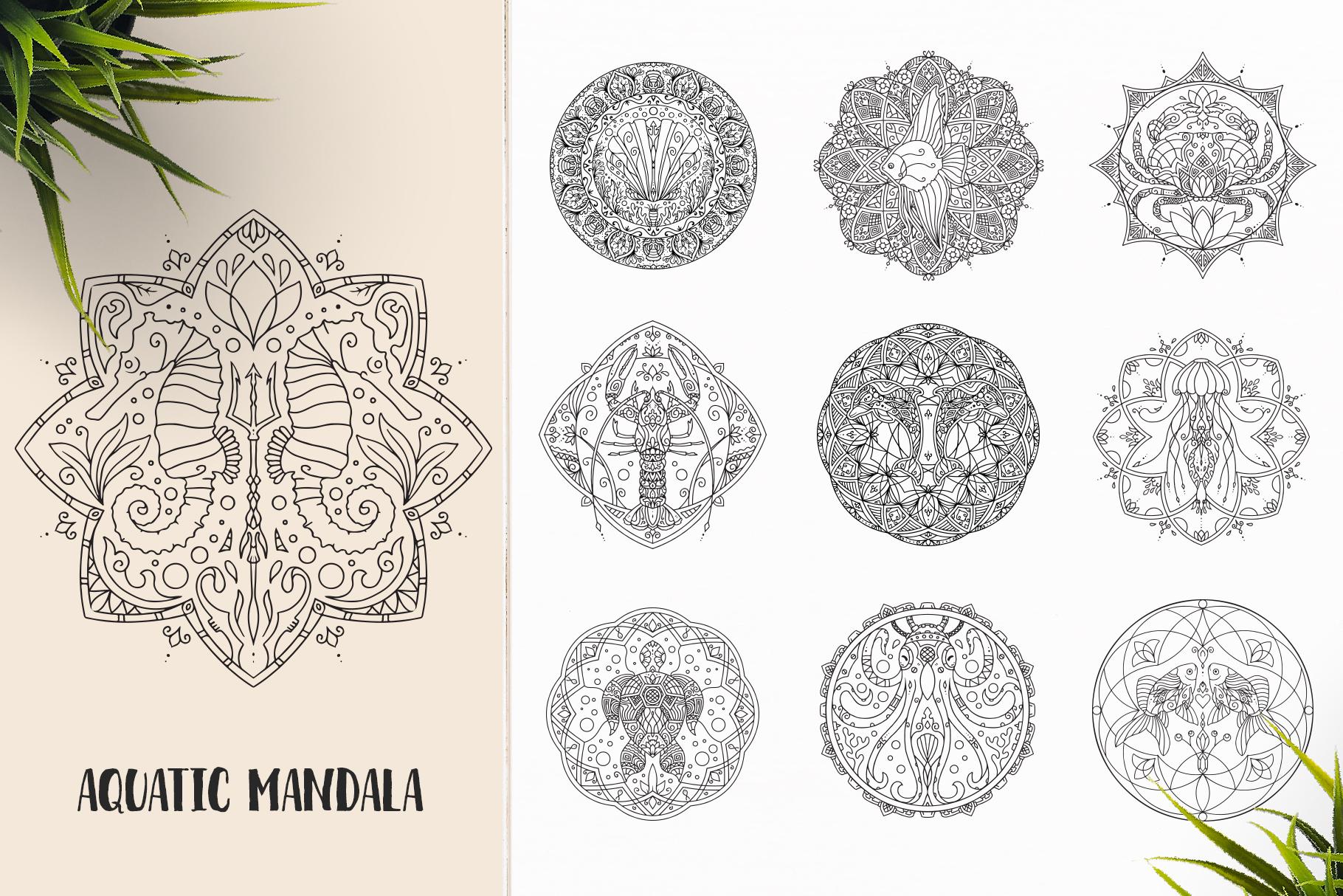 530 Vector Mandala Ornaments Bundle example image 6