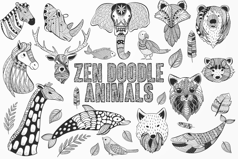 Zen Doodle Animals example image 1
