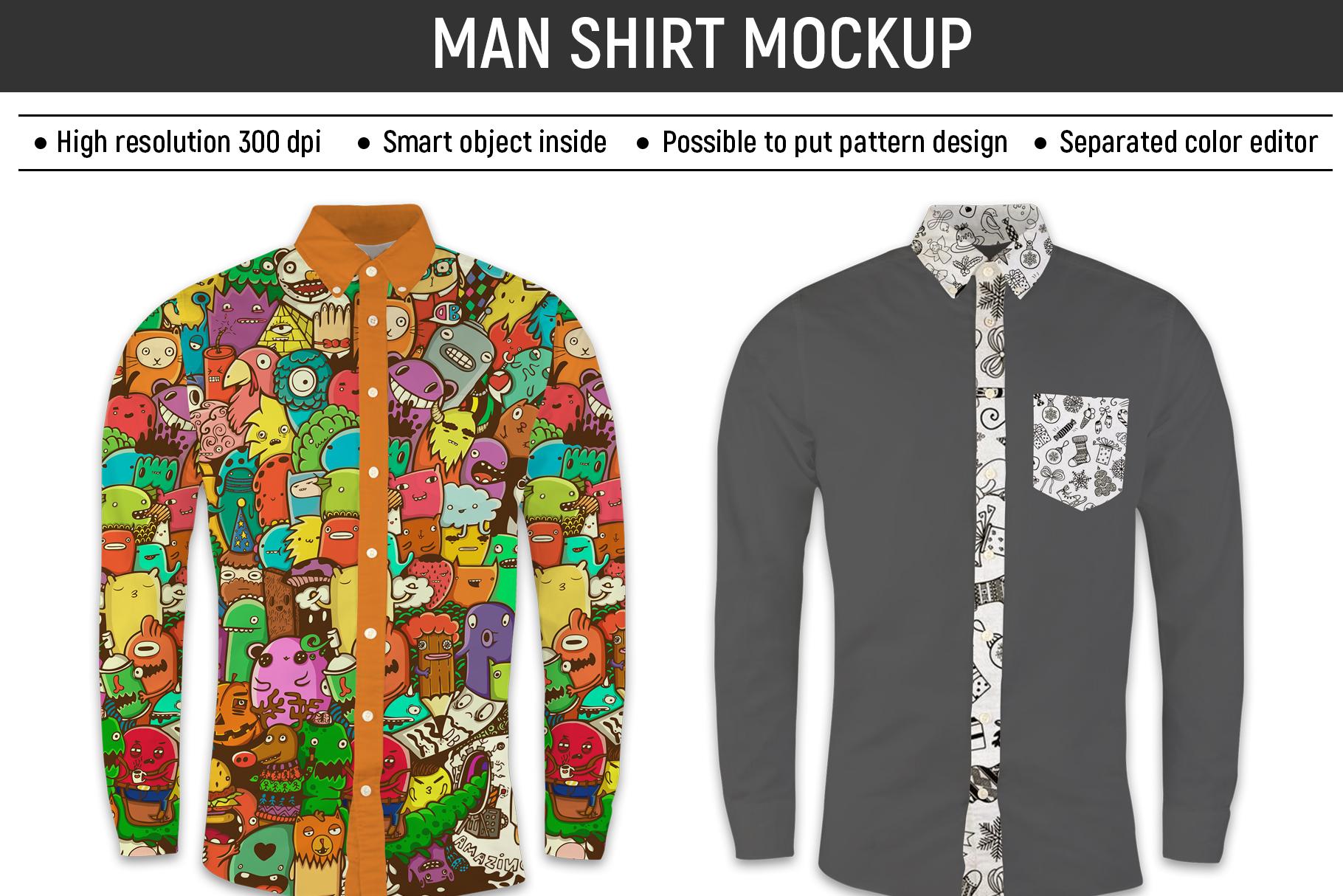 Man shirt mockup example image 1