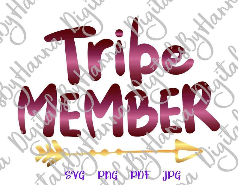 Tribe Member Sign With Tribal Arrow Print & Cut PNG SVG File example image 2