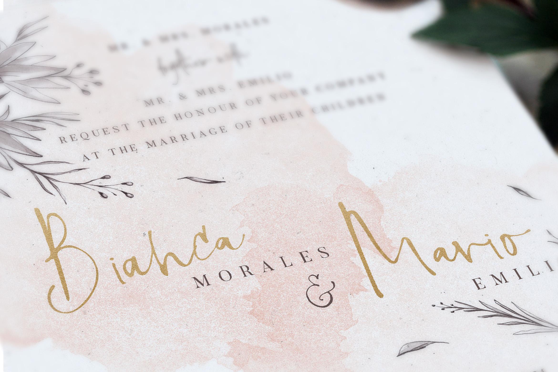 Peach & Grey Floral Wedding Suite example image 2