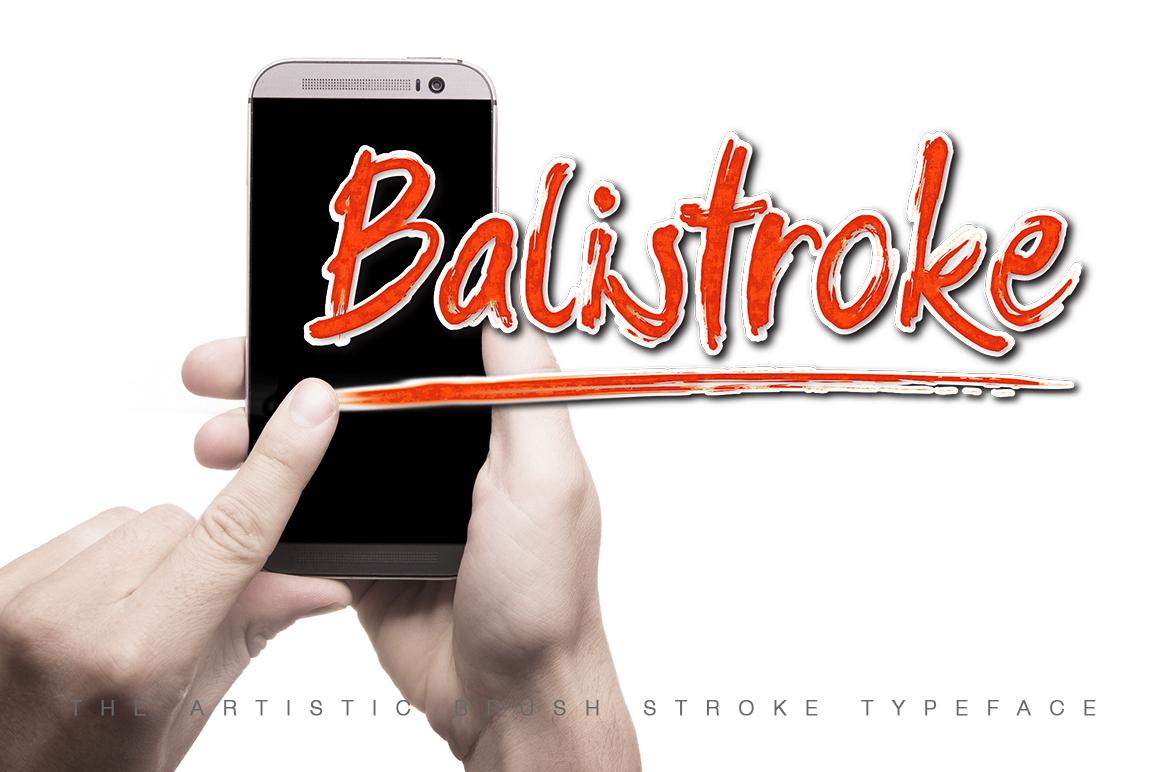 Balistroke Font example image 1
